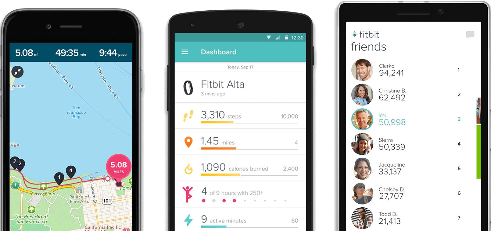 Stabilește un obiectiv cu aplicația Fitbit