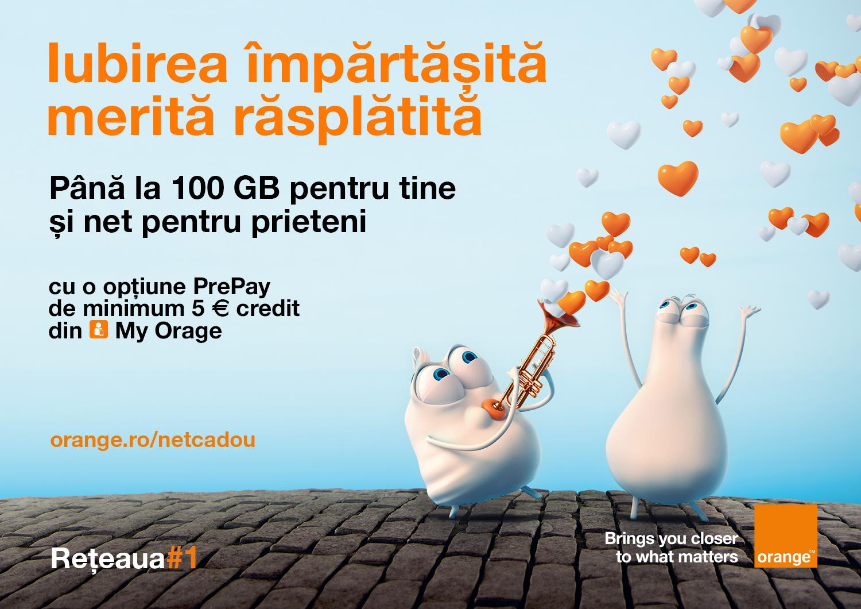 În sezonul iubirii, clienţii Orange PrePay primesc bonusuri pentru ei şi cei dragi