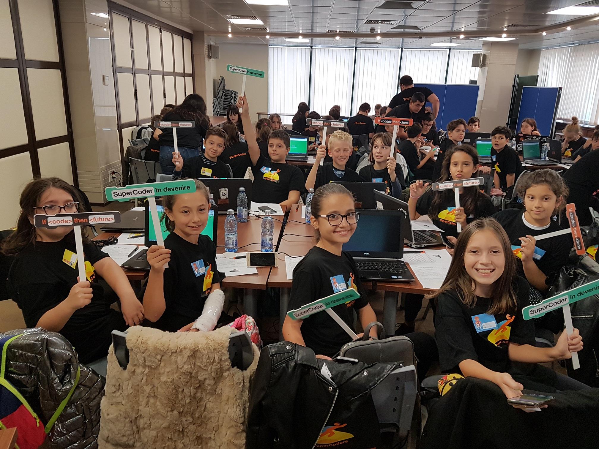 Cei 50 de copii castigatori ai Concursului national SuperCoders vor urma un curs avansat de programare