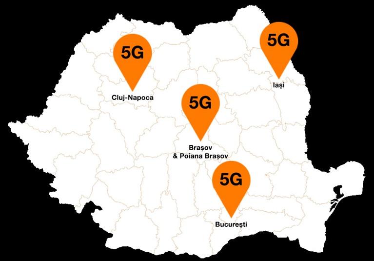 Orange extinde reţeaua 5G în două noi locaţii din ţară: Braşov şi Poiana Braşov