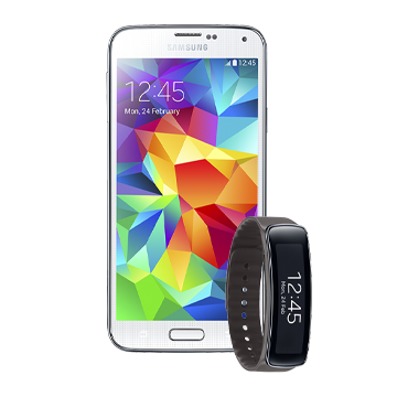 Samsung Galaxy S5 si Gear Fit